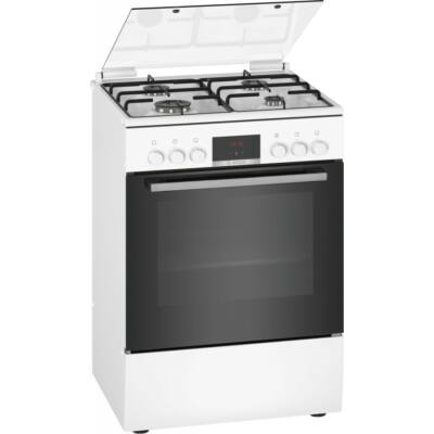 Bosch HXN390D20 Fehér Kombinált Tűzhely 3D Légbefúvással 4 Gázégővel 66L Sütőtér A