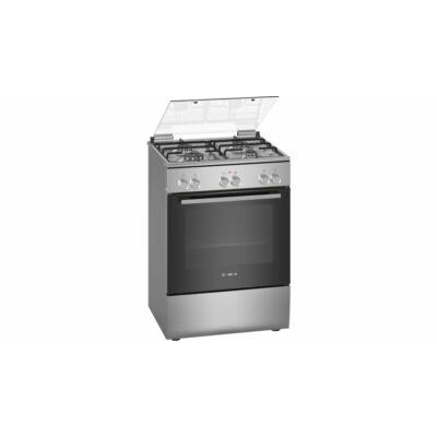 Bosch HXA090D50 Inox Kombinált Tűzhely 3D Légbefúvással 4 Gázégővel 66L Sütő A
