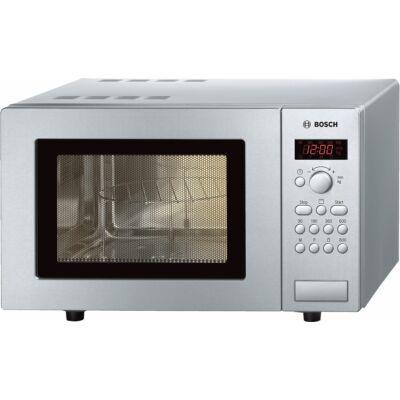 Bosch HMT75G451 Inox mechanikus vezérlésű mikrohullámú sütő grill funkcióval 17L