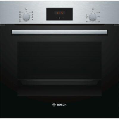 Bosch HBA514ES1 Inox beépíthető 3 szintes sütő 3D légbefúvással digitális kijelzővel 68L A