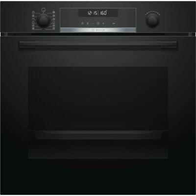 Bosch HBG5780B0 Fekete pioritikus beépíthető sütő 3D légbefúvás  LCD kijelző 71L A