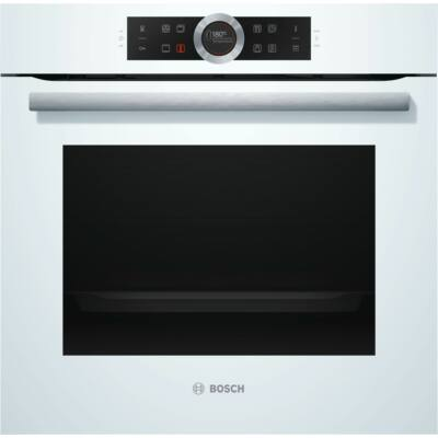 Bosch HBG6750W1 Serie 8 Fehér beépíthető pirolitikus sütő TFT kijelzővel 71L A+