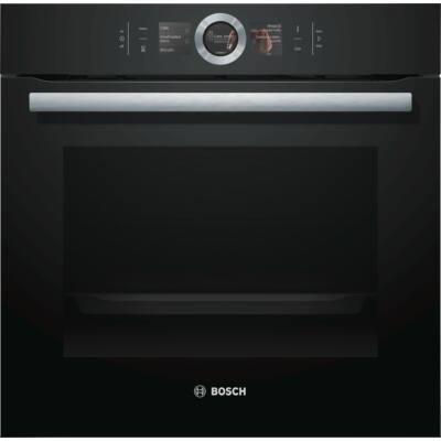 Bosch HBG676EB6 fekete beépíthető sütő PerfectBake sütőszenzorral érintőképernyővel 71L A+