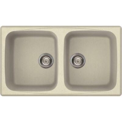 Elleci Master 450 G62 Bianco Antico színű granitek gránit mosogatótálca - mosogatok.hu