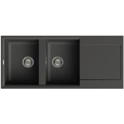 Elleci Easy 500 G40 Full Black színű granitek gránit mosogatótálca