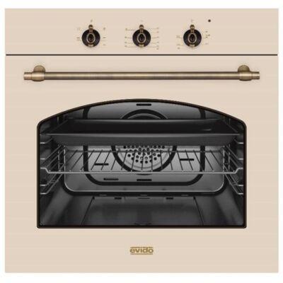 EVIDO RUSTIC-O 66A Beépíthető antracit/bronz rusztikus légkeveréses sütő 60L A