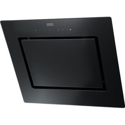 FRANKE FMY 607 BK Fekete döntött üvegernyős fali páraelszívó szénszűrővel 60cm A+