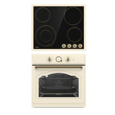GORENJE BO7732CLI -EC642CLI Rusztikus bézs - beige beépíthető sütő kerámia főzőlap szett