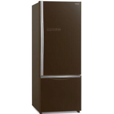 HITACHI B500PRU6.GBW barna üveg kombinált hűtőszekrény No Frost DualCooling 308/107L A+
