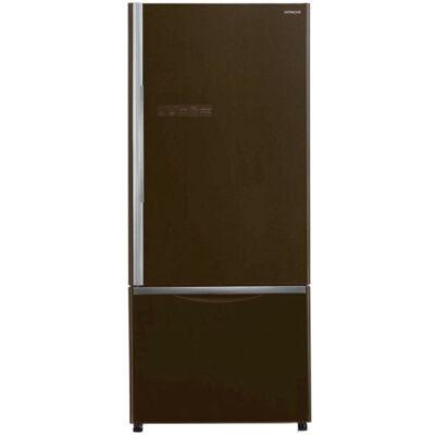 HITACHI B570PRU7.GBW  barna üveg kombinált hűtőszekrény NoFrost DualCooling 350/120L A++