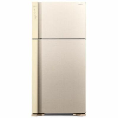 HITACHI V660PRU7.BEG felül fagyasztós bézs hűtőszekrény NoFrost 405/145L A++