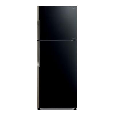 HITACHI VG470PRU8.GBK fekete üveg kombinált felülfagyasztós hűtőszekrény 217/190L A+