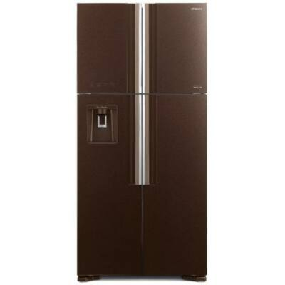 HITACHI W660PRU7.GBW.GGR Side By Side barna üveg hűtőszekrény NoFrost 396/144L A+