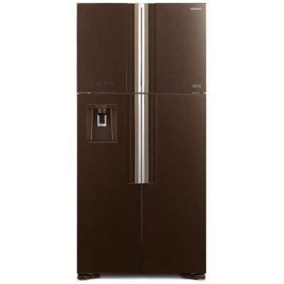 HITACHI W660PRU7X.GBW Side By Side barna üveg hűtőszekrény NoFrost 396/144L A+