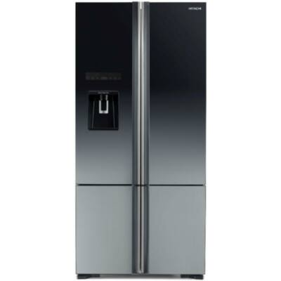 HITACHI WB730PRU6X.XGR Side by Side szürke üveg hűtőszekrény fagyasztóval 427/160L A++