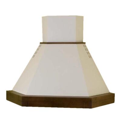 Kdesign CLASSICA ANGOLO 105 T600 rusztikus fehér kürtős sarok páraelszívó fa kerettel 105cm D