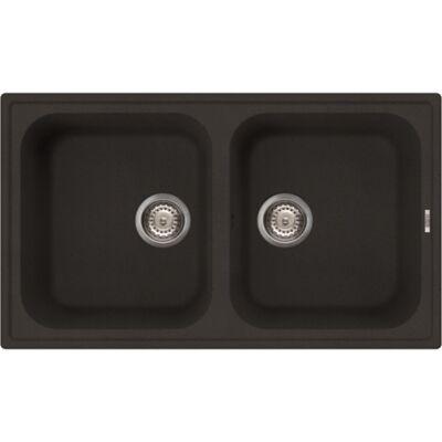 LIVINOX ECOSTONE HOME 450 fekete gránit mosogatótálca