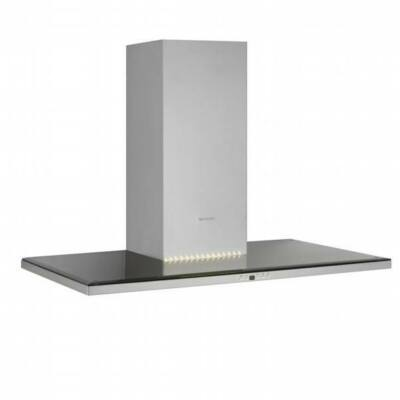 Silverline SLIM 3122 Inox fektetett T alakú fali páraelszívó fekete üveggel időzítővel 90cm A+