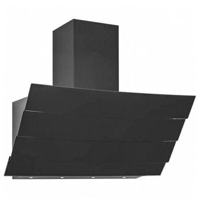 Silverline ETERNO 3370 design extra csendes fali döntött fekete üveg páraelszívó 90cm A+