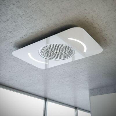 SIRIUS SLT 966 fehér üveg design mennyezetbe építhető páraelszívó távirányítóval 100cm A