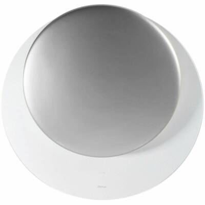 SIRIUS SLTC 94 fehér üveg ezüst kerámiaa paneles döntött kerek design páraelszívó 80cm A