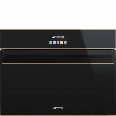 SMEG SF4606WMCNR Dolce Stil Novo beépíthető fekete/réz mikrohullámú sütő wifi 40L A+