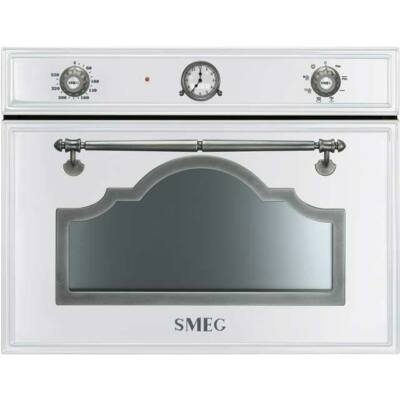SMEG SF4750MBS Cortina beépíthető rusztikus  fehér/ezüst mikrohullámú sütő 40L A