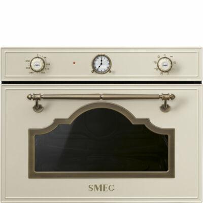 SMEG SF4750MPO Cortina beépíthető rusztikus bézs/bronz mikrohullámú sütő 40L A