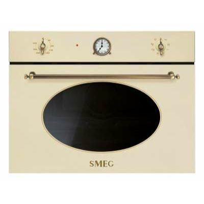 SMEG SF4800MPO Colonial beépíthető rusztikus bézs/bronz mikró analóg órával 40L 1000W