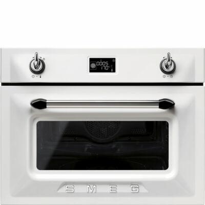 SMEG SF4920MCB1 Victoria beépíthető kompakt fehér mikrohullámú sütő kijelzővel 40L A