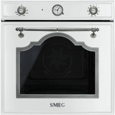 SMEG SF750BS Cortina rusztikus fehér grill funkciós hőlégkeveréses sütő analóg órával 70L A