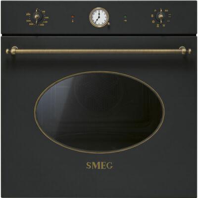 Smeg SFP805AO Colonial eépíthető pirolitikus rusztikus antracit/bronz sütő analóg óra 70L A