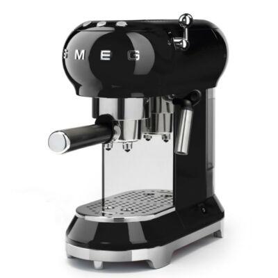 Smeg ECF01BLEU 50-es évek retro kávéfőző - Fekete