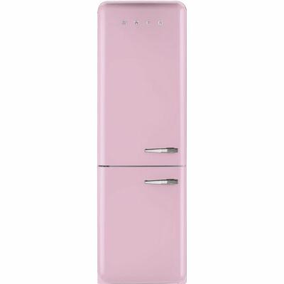 SMEG FAB32LRON1  Old Timer retro rózsaszín kombinált hűtő No Frost 229/75L A++