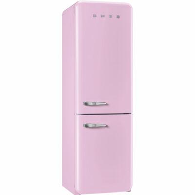 SMEG FAB32RRON1 Old Timer retro rózsaszín kombinált hűtő No Frost 229/75L A++