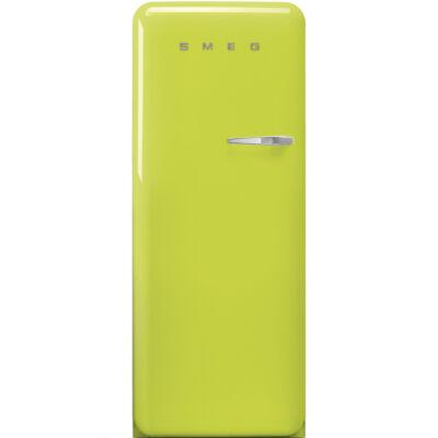retro egyajtós hűtőszekrény fagyasztóval lime zöld balos 222/26L A+