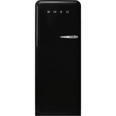 Smeg FAB28LBL3 retro egyajtós hűtőszekrény fagyasztóval fekete balos 222/26L A+++