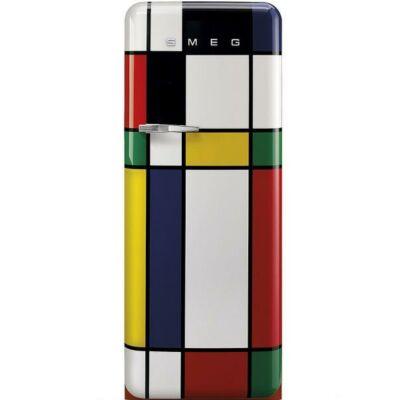 Smeg FAB28RDMC3 retro egyajtós hűtőszekrény fagyasztóval multicolor jobbos 222/26L A+++