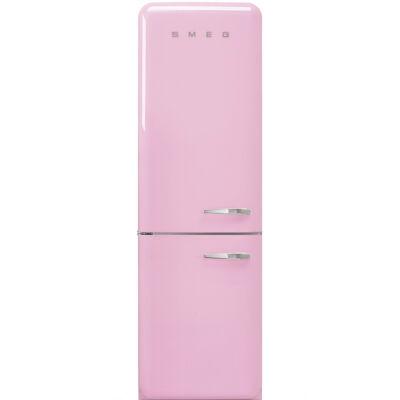 SMEG FAB32LPK3 Old Timer retro rózsaszín kombinált hűtő balos No Frost 234/97L A+++