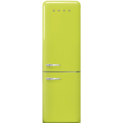 SMEG FAB32RLI3 Old Timer retro lime kombinált hűtő jobbos No Frost 234/97L A+++