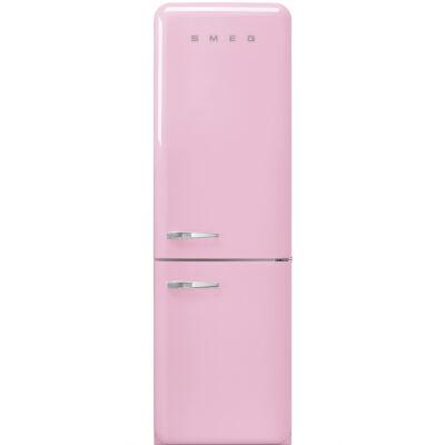 SMEG FAB32RPK3 Old Timer retro rózsaszín kombinált hűtő jobbos No Frost 234/97L A+++