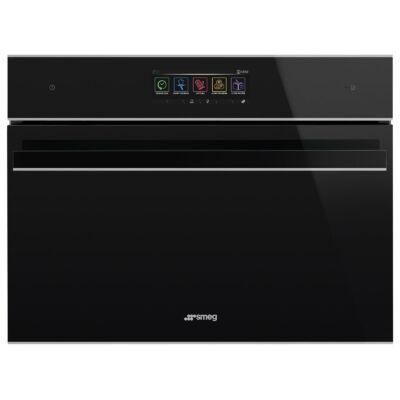 SMEG SF4606WMCNX Dolce Stil Novo beépíthető fekete/inox mikrohullámú sütő wifi 40L A+
