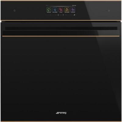 SMEG SFP6606WTPNR Dolce Stil Novo beépíthető fekete/réz pirolitikus sütő wifi 70L A+