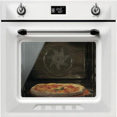 SMEG SF6922BPZE1 Victoria rusztikus fehér hőlégkeveréses sütő nagy LCD kijelzővel 65L A+