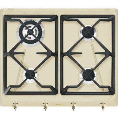 Smeg SRV864POGH Colonial beépíthető rusztikus bézs/bronz gázfőzőlap wok égővel 60cm