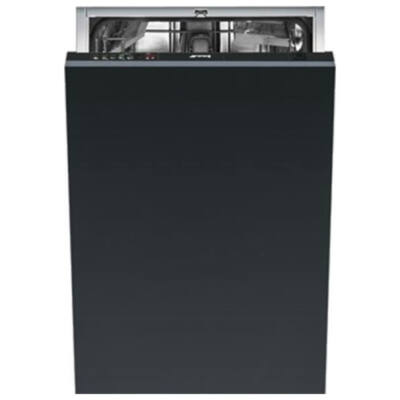 Smeg STA4501 teljesen beépíthető fekete keskeny mosogatógép 10 teríték A