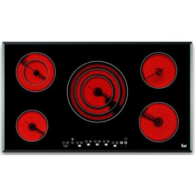 TEKA TR 951 beépíthető fekete 5 zónás üvegkerámia főzőlap  Stop & Go funkcióval 90cm