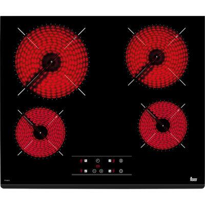 TEKA TZ 6415 beépíthető fekete üvegkerámia főzőlap elől csiszolt élekkel időzítővel 60cm
