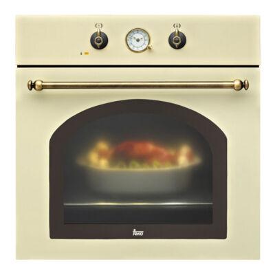 Teka HR 550 bézs rusztikus multifunkciós beépíthető sütő analóg órával 57L A