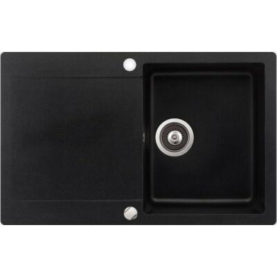 TEKA CLIVO 45 B-TQ metál fekete gránit egymedencés mosogatótálca csepegtetővel